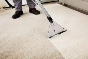 Man Cleaning Carpet | ABQ Thoro Clean